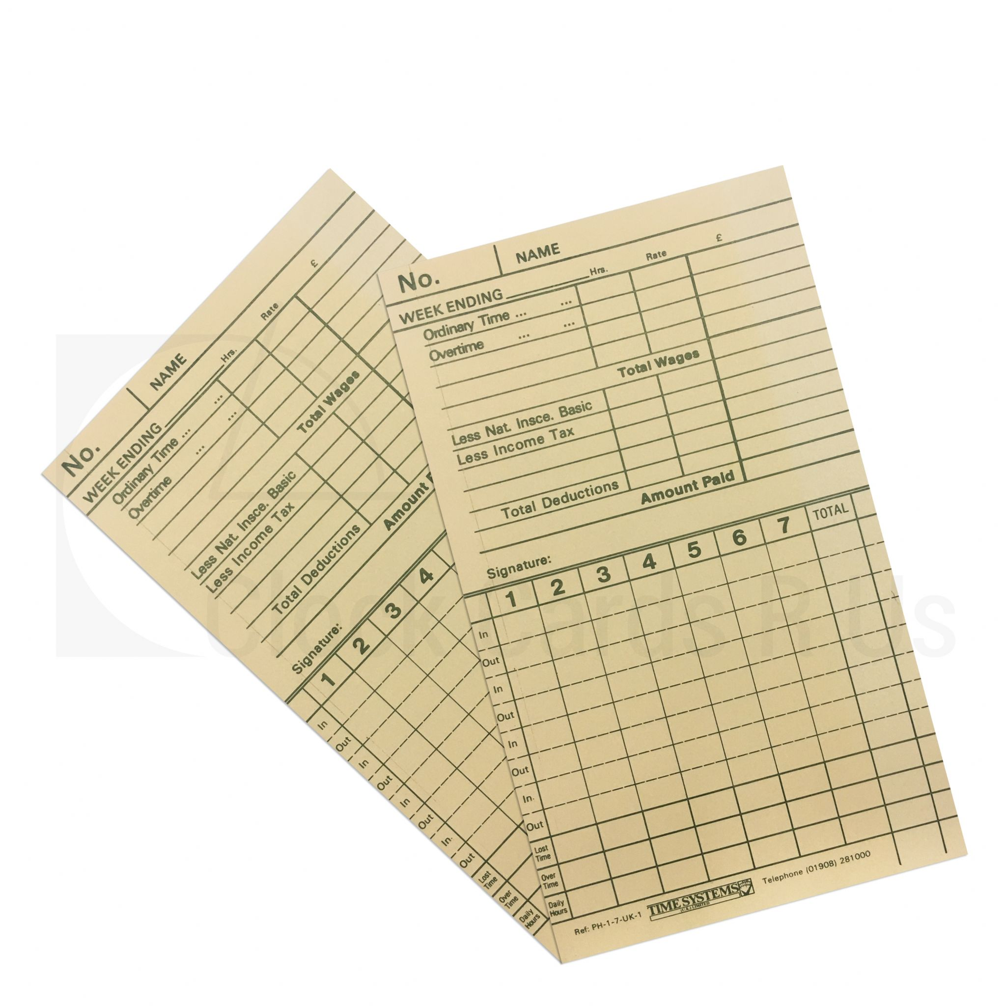 10-100016-UK1 Time Clock Cards