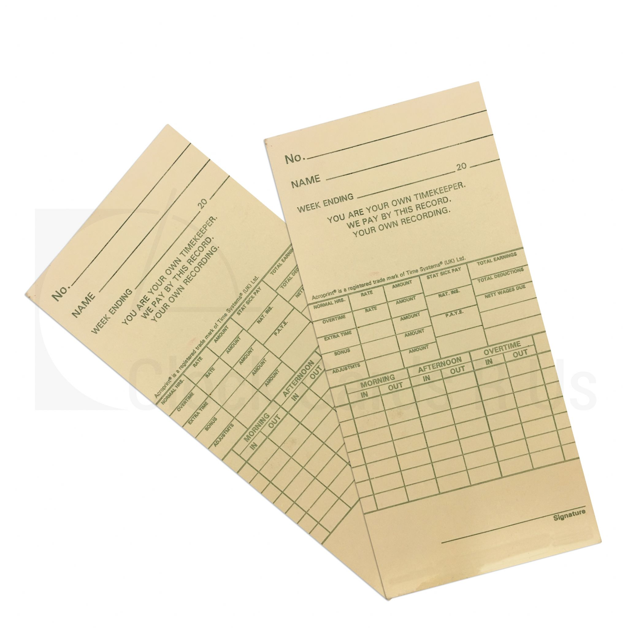 106456 Time Clock Cards